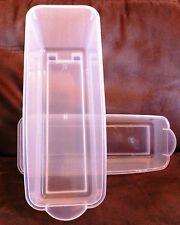 Set of 2 Kitchen Cupboard Storage Larder Pantry Organiser Store Plastic Box Tidy