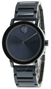 MOVADO Bold 40MM Quartz Stainless Steel Blue Dial Men's Watch 3600510