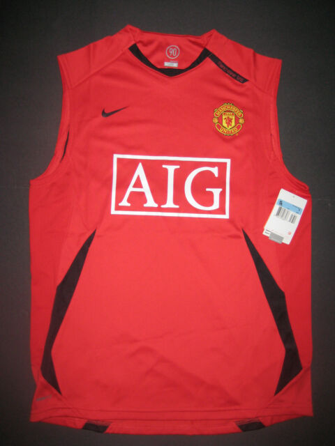 ed47c8f91 Nike 2006-2009 Manchester United Training Shirt Jersey Kit Sleeveless Home  Red