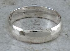 925 STERLING SILVER 6MM HAMMERED BAND RING size 7  style# r2409