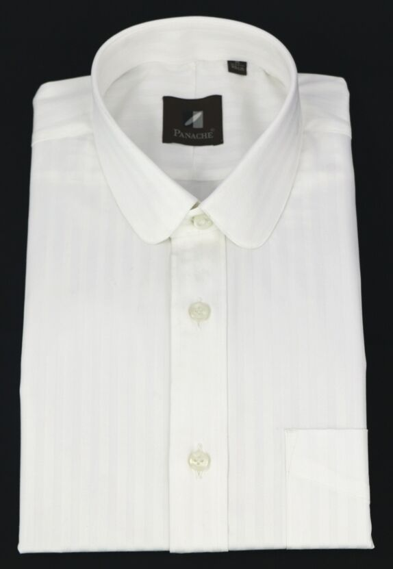 Uomini Club Collo Collo Collo Pallido Blinder shirt bianca cotone Penny Strisce rossoondo Manica Lunga 94513b