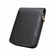 Fountain Roller Ball Pen Case Holder PU Leather Bag for 12 Pens Color Black
