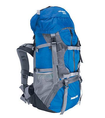 Adventurer Travel Camping Hiking Rucksack Backpack Bag Blue or Red 55 65 Litre L