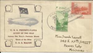 US DIRIGIBLE(Zeppelin) U.S.s. MACON Ullmann #10/27/34-38.1(black,brown,silver