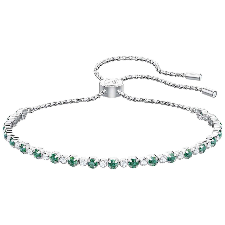 Swarovski 5465355 Subtle Bracelet, Green, Rhodium Plating  RRP 129