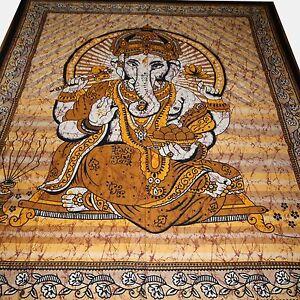 Tagesdecke-Bettueberwurf-Jai-Lord-Ganesh-Wandbehang-Indien-Dekotuch-hippie-goa