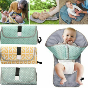 Waterproof-Baby-Diaper-Changing-Mat-Travel-Home-Change-Pad-3in1-Organizer-Bags-039