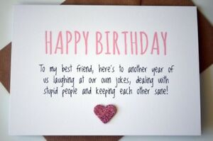 Image Is Loading Best Friend Birthday Card Besties Funny Humour Cute