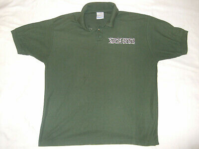Attento Earth Crisis Embroidered Logo Polo Xl Vintage Ricamato Logo-mostra Il Titolo Originale