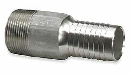 ZORO SELECT 3LZ83 Nipple,1//2 In Barb,1//2 In MNPT,316 SS