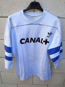 VINTAGE-Maillot-EQUIPE-de-FRANCE-porte-entrainement-Adidas-match-worn-shirt-rare