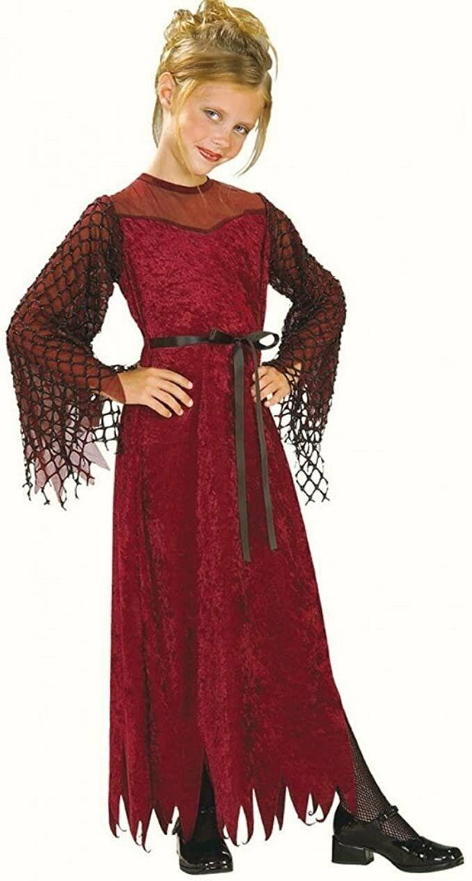 Childs Gothic Enchantress Fancy Dress costume Halloween Outfit girls Dress