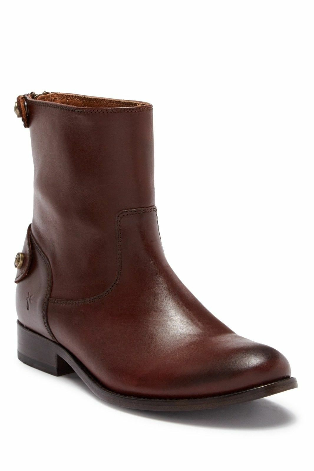 Frye Melissa Melissa Melissa Button Back Zip Short Boots Sz 7 Cognac New 3920e2