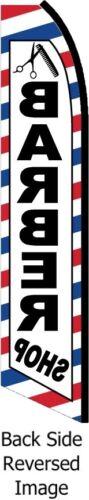 BARBER SHOP FLUTTER FLAG Feather Swooper Tall Curved Advertising Banner Sign