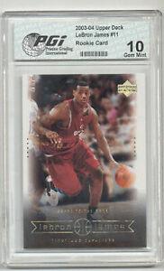 LeBron James 2003 Upper Deck #11 PGI 10 Rookie Card