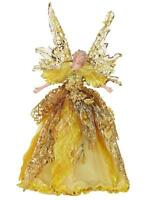 Holiday Angel Christmas Tree Topper Top 10 Tall Gold Dress Blonde Hair
