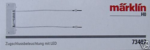 Märklin 73407 zugschluss ILLUMINAZIONE CON LED #neu IN SCATOLA ORIGINALE