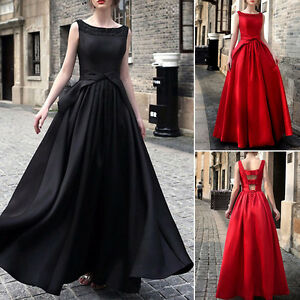 Mujer-Vestido-De-Noche-coctel-Fiesta-Damas-Honor-Largo-NUEVO