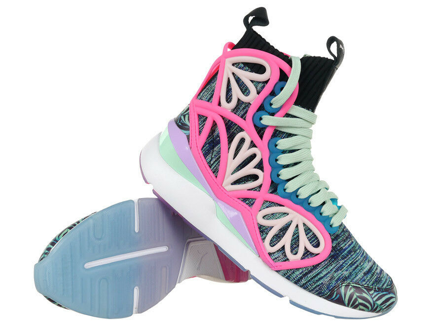 Femme Sneakers Puma Pearl Cage Graphic Mid Sophia Webster Trainers Chaussures