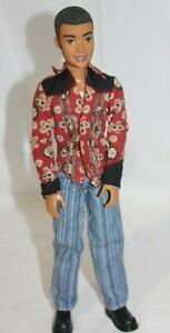 Mattel-My-Scene-Sutton-Boy-Doll-13-034-Barbie-Ken-Friend-Brown-Flocked-Hair-Rare
