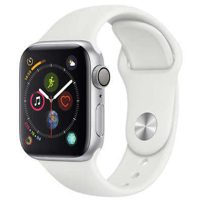Apple Watch Series 4 GPS with White Sport Band - 40mm - Silver
