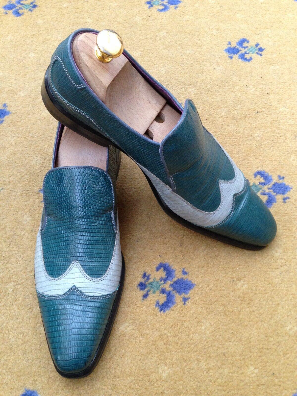 Oliver Sweeney Bespoke Homme Chaussures en Cuir Bleu Lézard 8.5 Effet US 8.5 Lézard 41.5 39f4f7