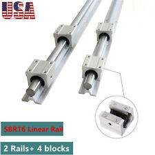 Sbr16 300 2000mm Linear Slide Rail Guide Shaft Rod4pcs Sbr16 Bearing Block Cnc