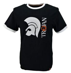 Trojan-Records-100-Cotton-Black-Helmet-Logo-T-Shirt