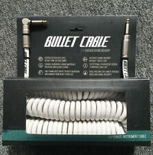 THE WHITE COILY CABLE IS BACK! NEW 30' BULLET CABLE COIL ELECTRIC GUITAR CABLE