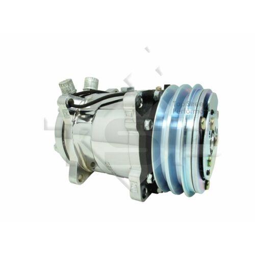 TSP Sanden 508 Chromed AC Compressor V-Belt HC5003C Sliver Clutch