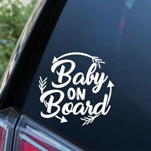 Baby On Board Sticker Child Children Kids Funny Window Bumper Arrow Car Decal
