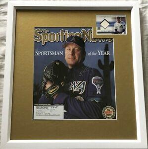 Curt-Schilling-autographed-signed-Diamondbacks-2001-TSN-cover-framed-jersey-card