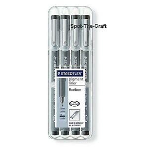 Staedtler-Pigment-Fineliner-4-Pens-Black-Sizes-0-1-0-3-0-5-and-0-7-308-A6-WP403