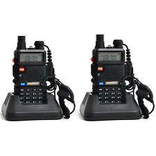 2 PCS UV-5R VHF&UHF BaoFeng Dual-Band DTMF CTCSS FM ham 2 way 5R radio From US
