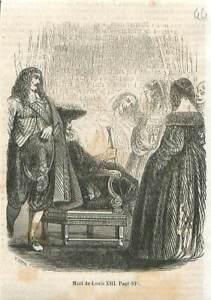 Mort-du-roi-Louis-XIII-au-chateau-neuf-de-Saint-Germain-en-Laye-GRAVURE-1851