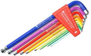 PB-SWISS-TOOLS-212-LH-10-RB-Sechskant-Stiftschluessel-Hexagonal-Rainbow-hex-key