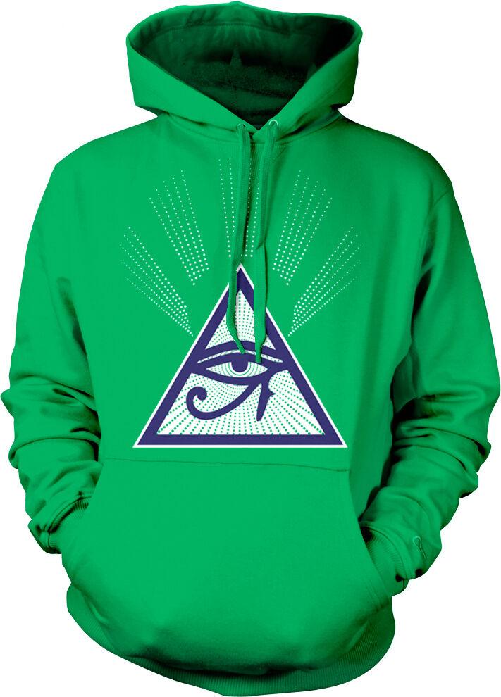 All Seeing Eye Free Mason Egyptian Prophecy Horus Providence Hoodie Sweatshirt