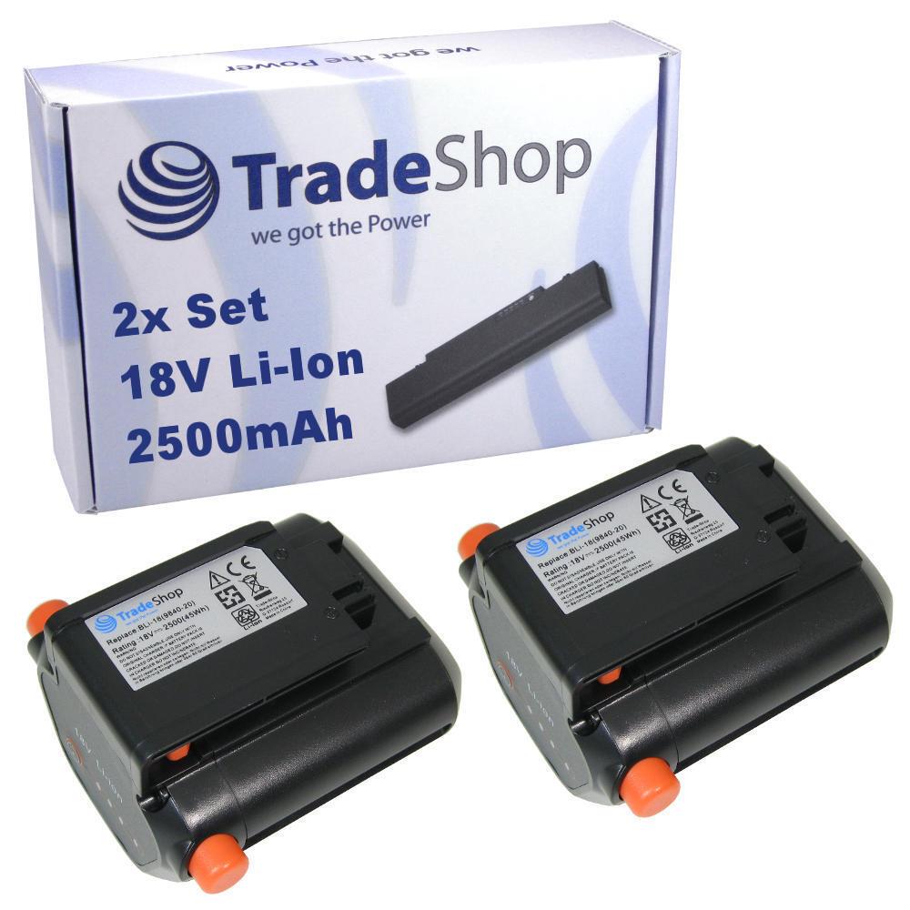 2x Werkzeug AKKU 2500mAh 18V Li-Ion für Gardena Trimmer EasyCut and ComfortCut