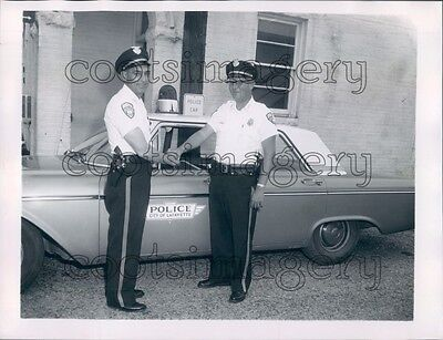 1963 LaFayette Alabama Policemen Homer Boone By Police Car Press Photo