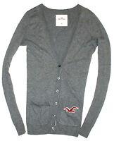 Hollister Pullover Strickjacke Grau Gr. M