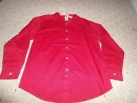 Unisex Clothes Tops Girls Boys Long Sleeve Bright Red Xl 14 16 Button Down Shirt