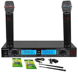 Rockville-RWM2602UR-UHF-Wireless-Dual-Recharageable-HandHeld-Microphone-System