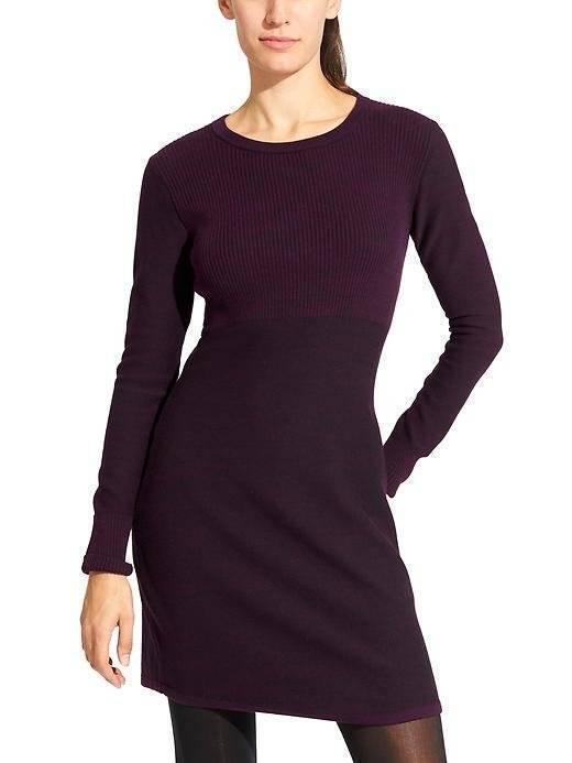 NWT Athleta Cottonwood Sweater Dress, Wild Raisin Größe M