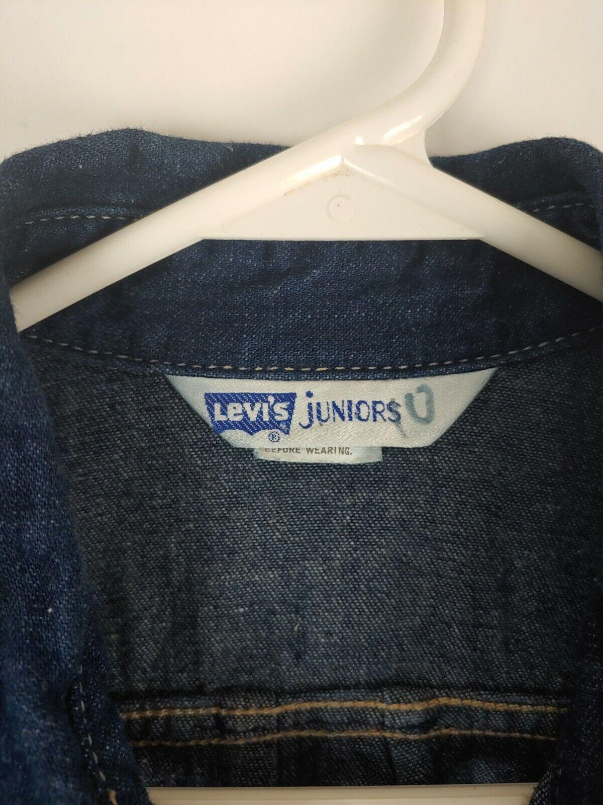 VTG Levi's Women's Juniors 80s Dark Wash Denim Ja… - image 6