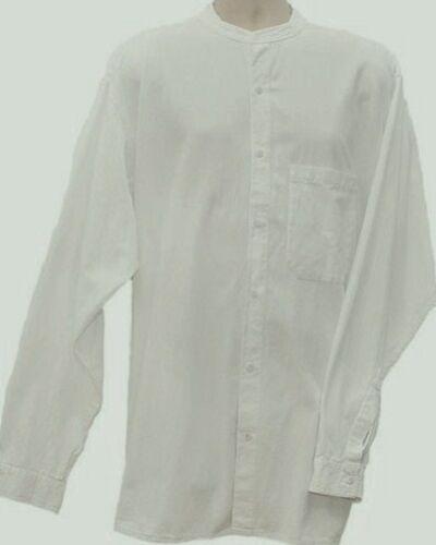 "fits up to 58/"" chest Grandad Shirt Kaboo Original Quality Half Button in XXXL"