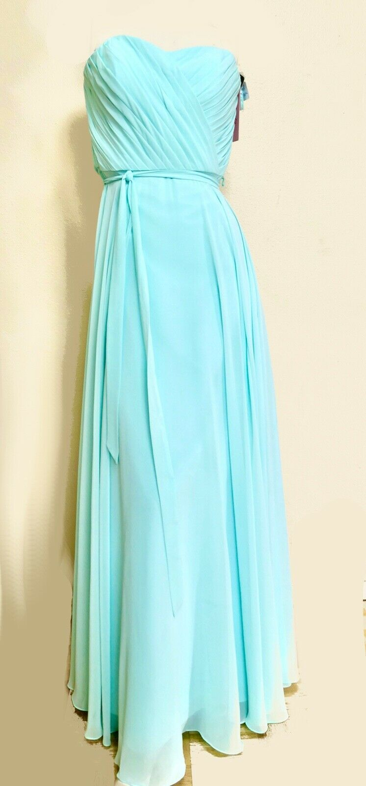 Nwt Mori Lee Gardner Mint Green Ball Gown Party Prom Formal Maxi Dress 14 L