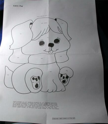 """VTG WALL ART DIY MAIL ORDER PAPER WOODWORKING PATTERN 14/"""" LITTLE PUP puppy DOG"""