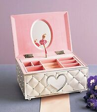 Pink Ballerina Jewelry Box Kids Room Storage Organizer Musical Childhood Gift