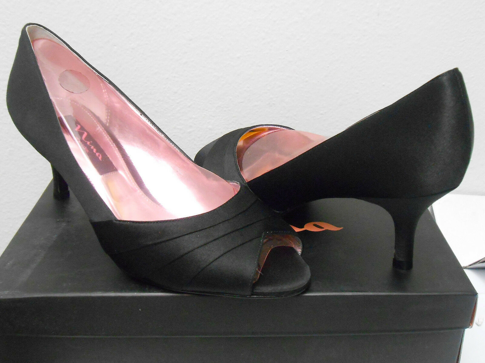 NINA (CRIANA SATIN schwarz PUMP) damen Größe 7.5 7.5 7.5 BRAND NEW eec34d