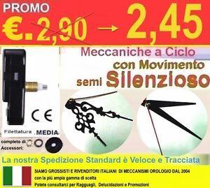 Dettagli su MECCANISMO OROLOGIO ALBERO MEDIO X QUADRANTI 6MM , B16 S.  SILENZIOSO DECOUPAGE